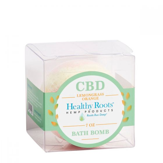 CBD Bath Bomb Lemongrass Orange 50mg